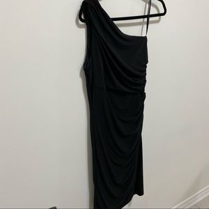 🛍3/$45 Le Chateau One Shoulder Side Rouched Dress